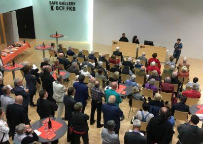 Exposition « Pliés, enroulés, aplanis. Les parchemins du Couvent des Cordeliers Fribourg » au siège central de la Banque Cantonale de Fribourg,